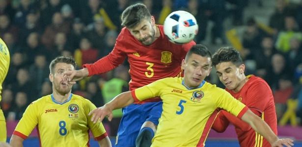 Espanha e Romênia ficaram no zero em amistoso preparatório para a Eurocopa - ANDREI PUNGOVSCHI/AFP