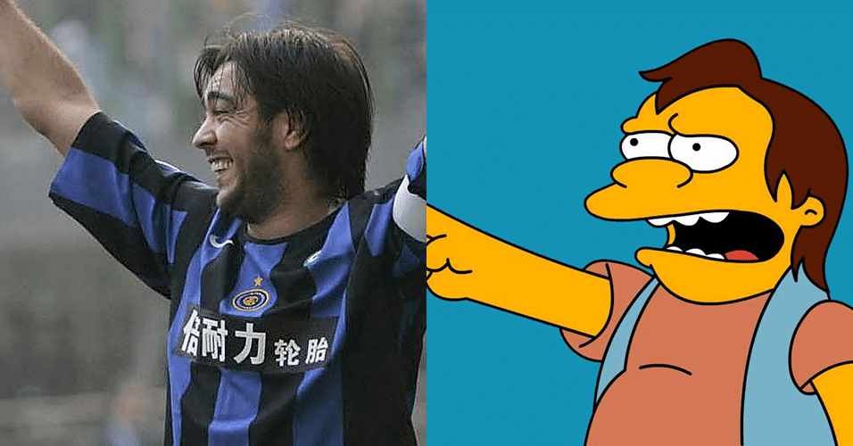 "ALVARO RECOBA - Nelson, de ""Os Simpsons"""
