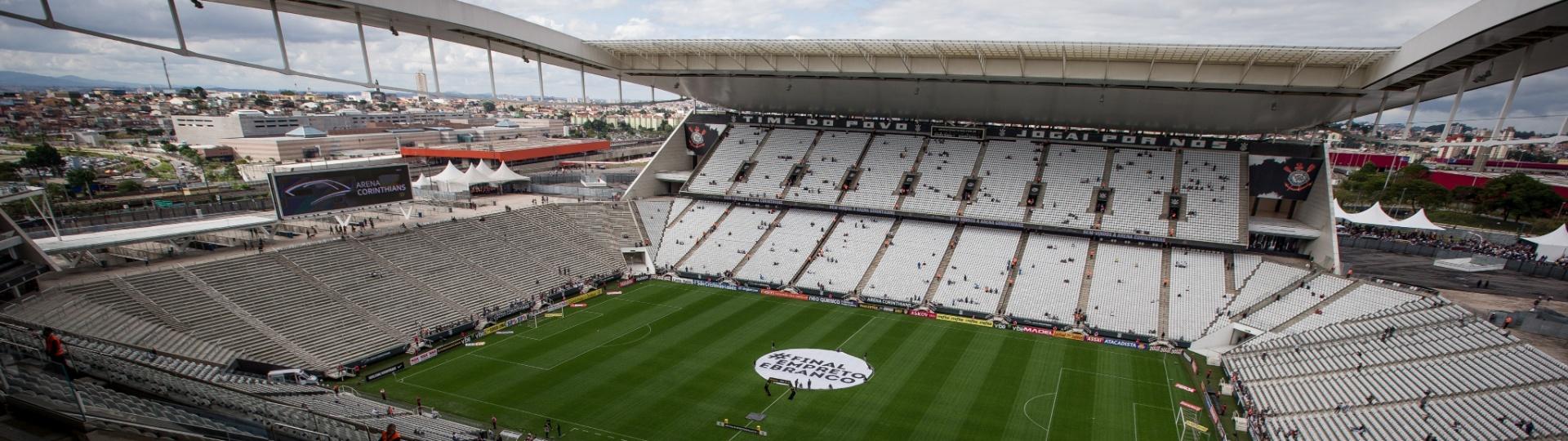 Arena Corinthians momentos antes da final do Paulistão 2017, entre Corinthians e Ponte Preta