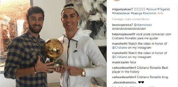 Cristiano Ronaldo e o amigo Miguel Paixão