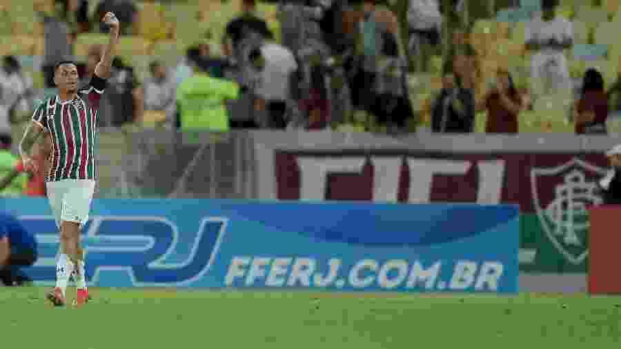 Luciano comemora gol do Fluminense diante do Flamengo na Taça Guanabara de 2019 - Thiago Ribeiro/AGIF