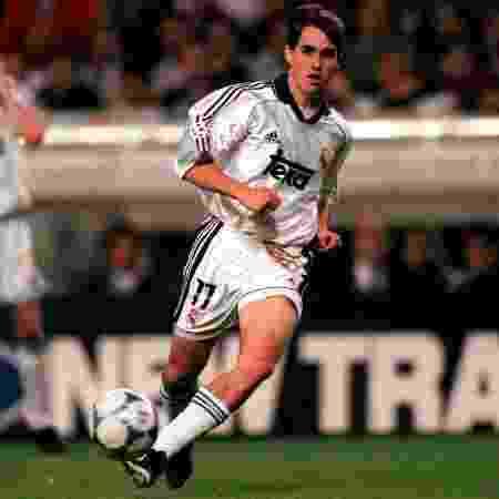 Sávio pelo Real Madrid na semifinal da Liga dos Campeões de 2000 - Matthew Ashton/EMPICS via Getty Images