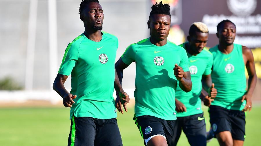 Samuel Kalu durante treino da Nigéria - GIUSEPPE CACACE/AFP