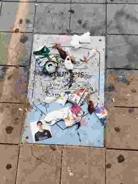 Placa de Courtois é vandalizada no Wanda Metropolitano  - Brunno Carvalho/UOL - Brunno Carvalho/UOL