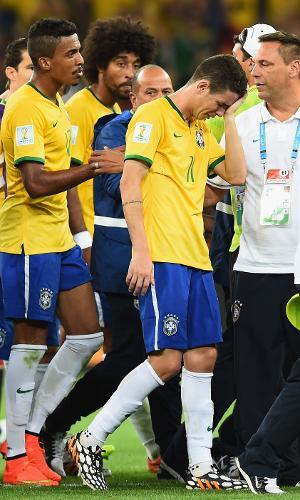 Jogadores da seleção brasileira choram após 7 a 1 para Alemanha