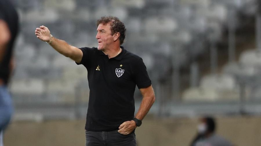 Cuca segue pressionado pela torcida, mas ganha respaldo do departamento de futebol e presidência do Galo - Pedro Souza/Atlético-MG