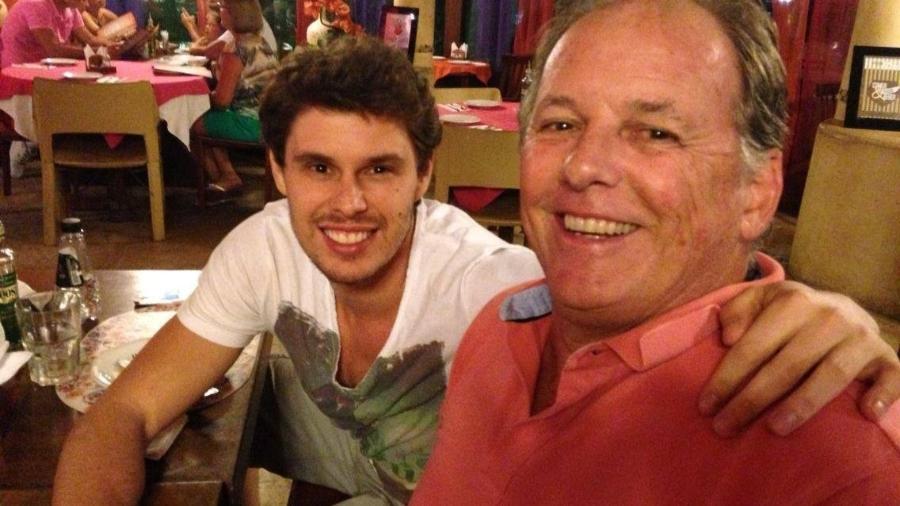 Suíço, ex-jogador de vôlei morto pela covid, e Bruninho, de quem era padrinho - Reprodução/Facebook