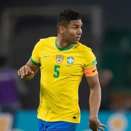 Casemiro durante jogo da seleção brasileira contra o Equador - Lucas Figueiredo/CBF