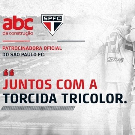 São Paulo anunciou patrocínio da ABC da Construção - Divulgação/SPFC