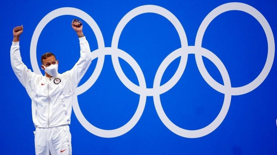 Caeleb Dressel, nadador dos Estados Unidos - Adam Davy/PA Images via Getty Images