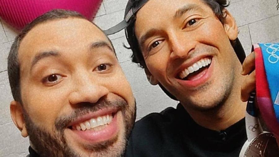 Gil do Vigor e Kelvin Hoefler trocaram elogios após o Mais Você - Reprodução/Instagram