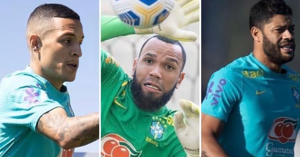 Guilherme Arana, Everson e Hulk estão servindo a seleção brasileira após bom desempenho pelo Atlético-MG