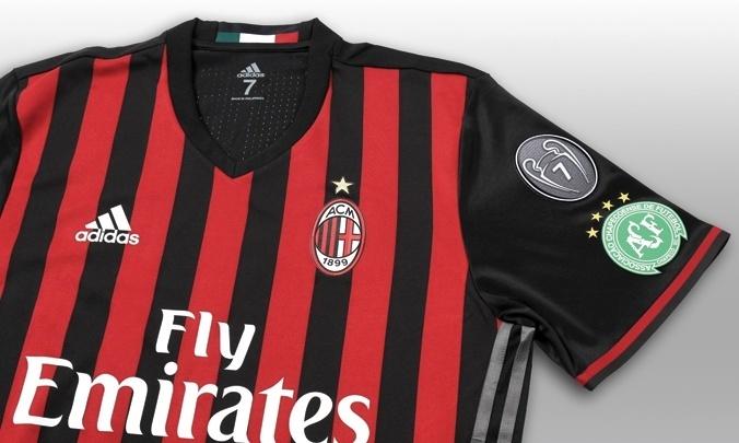 Escudo da Chapeconese estará na manga da camisa do Milan