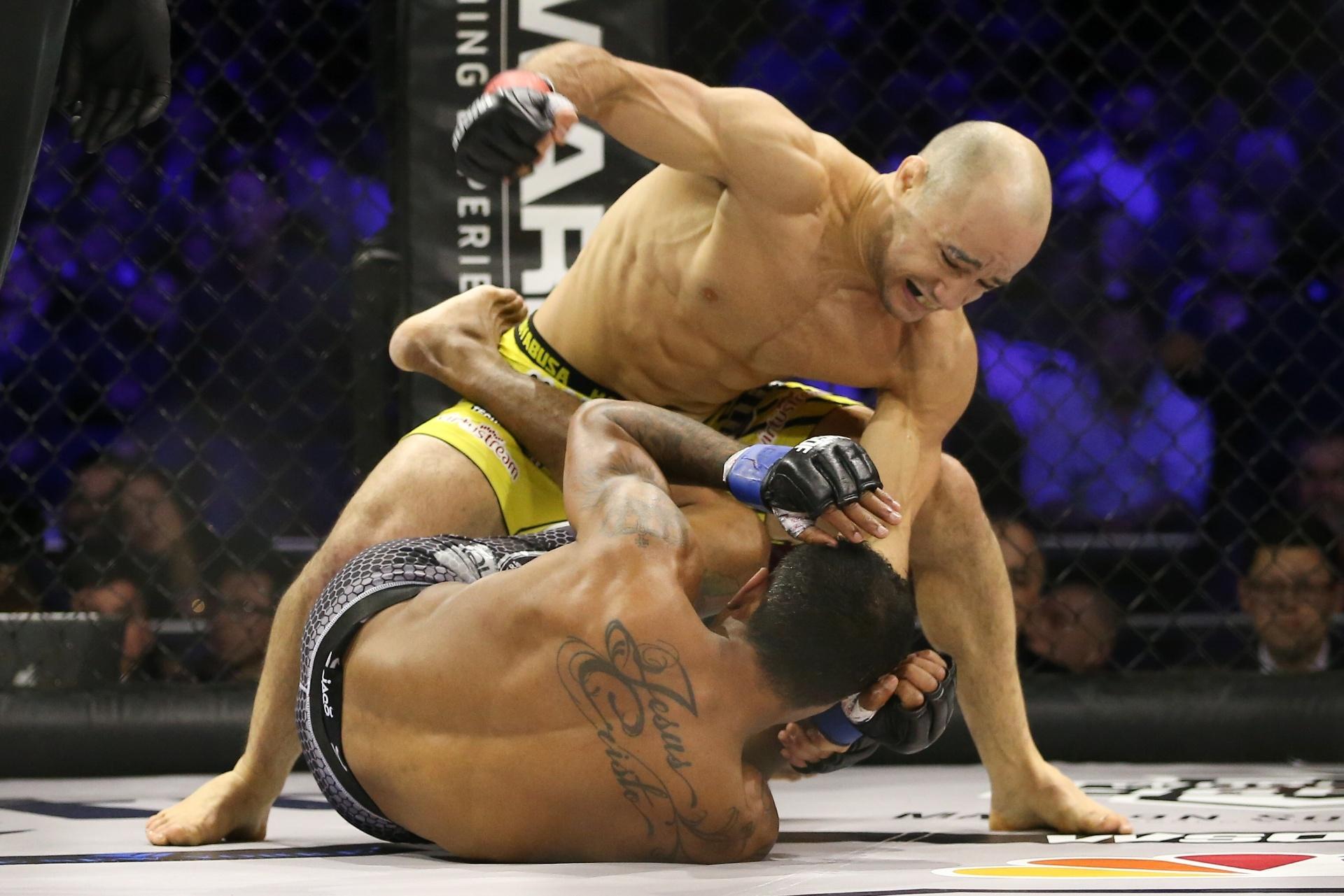Marlon Moraes em ação pelo World Series of Fighting