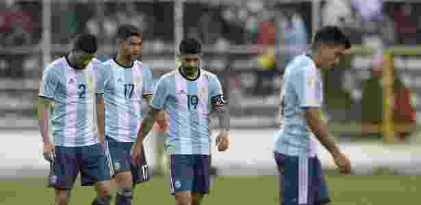 Argentina viu suas chances de classificação se complicarem após derrota na Bolívia - Juan Mabromata/AFP