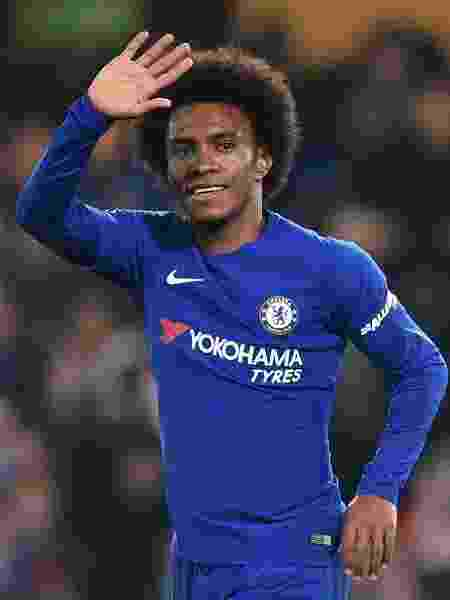 Willian comemora gol do Chelsea contra o Bournemouth - Glyn Kirk/AFP