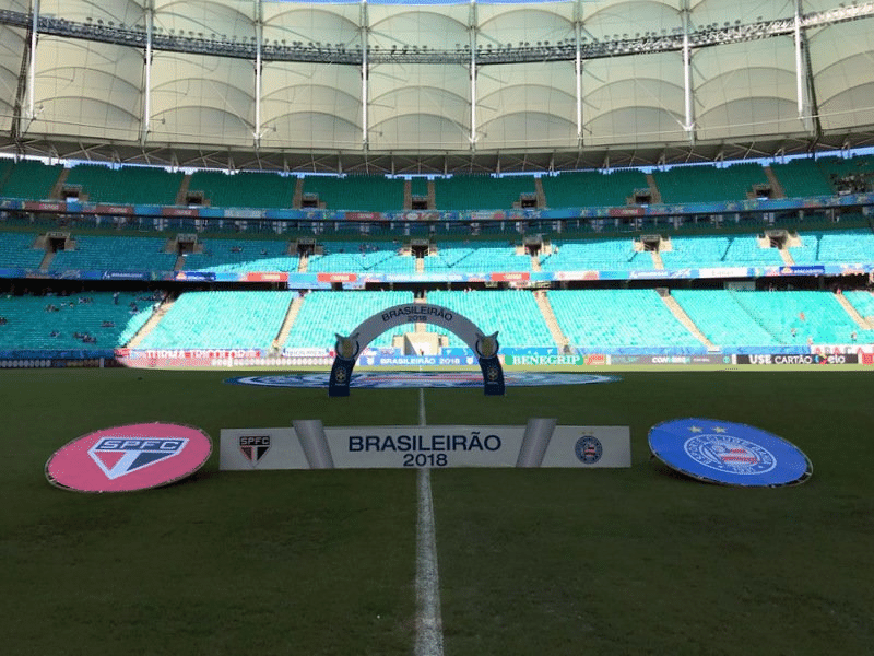 Arena Fonte Nova recebe Bahia x São Paulo pelo Campeonato Brasileiro