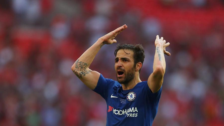 Cesc Fabregas em ação pelo Chelsea - Catherine Ivill/Getty Images