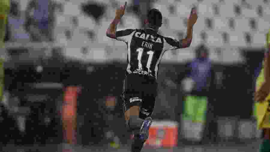 Erik comemora gol pelo Botafogo - VITOR SILVA/SSPRESS/BOTAFOGO
