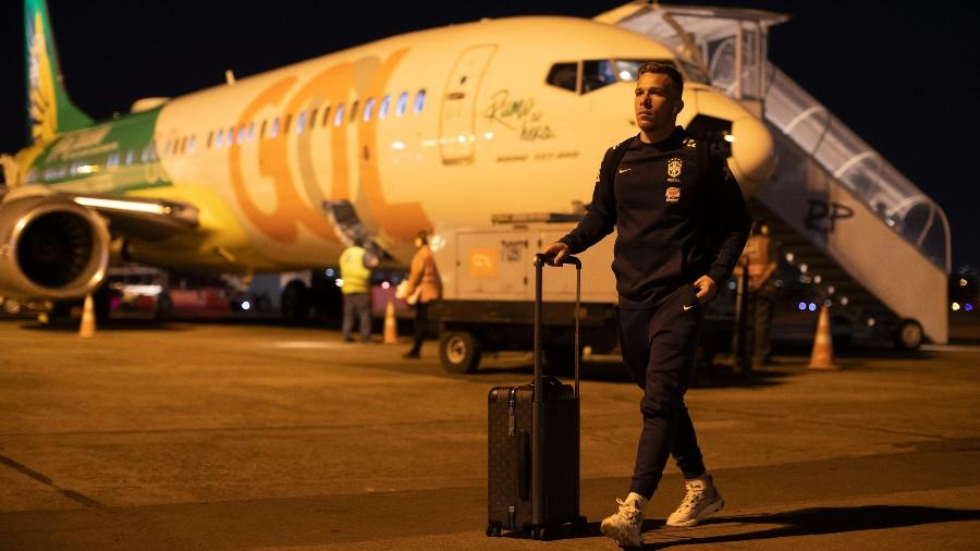 Seleção desembarca para jogo durante a Copa América. Empresa que cuida da logística é de empresário ligado à propina  - Lucas Figueiredo/CBF