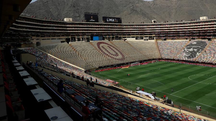 Estádio Monumental de Lima, onde o Corinthians encara o Sport Huancayo  - Henry Romero/Reuters