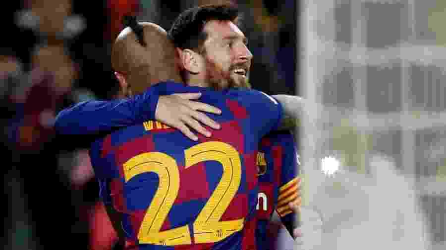 Messi comemora gol do Barcelona contra o Leganés - REUTERS/Albert Gea