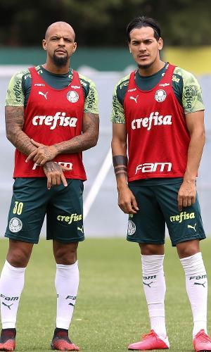 Felipe Melo e Gustavo Gómez são os zagueiros titulares do Palmeiras sob o comando de Vanderlei Luxemburgo