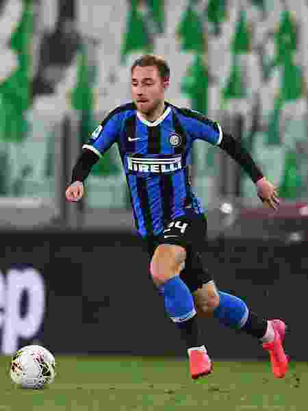 Christian Eriksen, durante partida entre Inter de Milão e Juventus - Claudio Villa - Inter/Inter via Getty Images