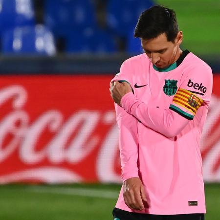 Messi marcou o segundo gol da vitória do Barcelona sobre a Juventus - Gabriel Bouys/AFP
