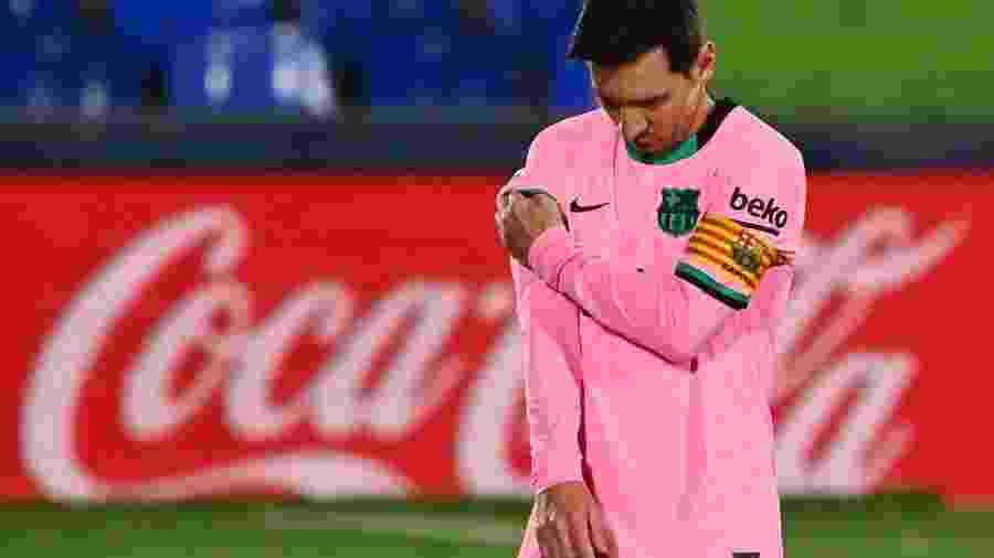 Messi lamenta em jogo do Barcelona - Gabriel Bouys/AFP