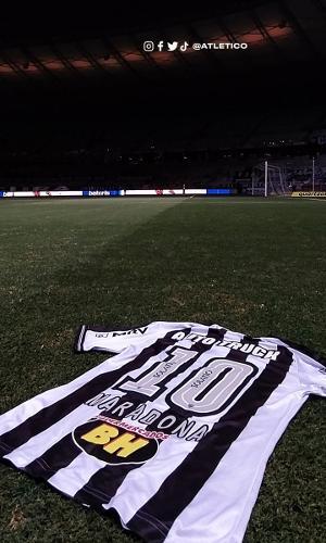 Camisa 10 do Atlético terá nome de Maradona em homenagem ao craque