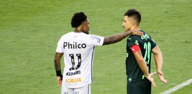 Presidente do Santos revela conversas com o Palmeiras por Marinho