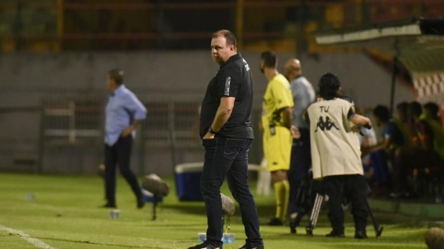 Marcelo Fernandes, auxiliar técnico do Santos, em partida diante do Santo André - Ivan Storti/Santos FC