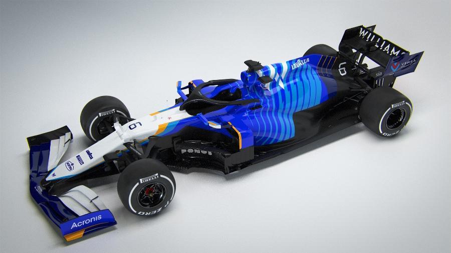 Carro da Williams para a temporada 2021 da F1 - Divulgação/Williams