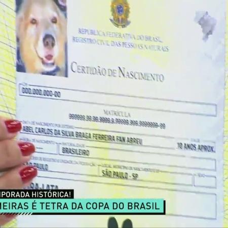 Renata Fan mostra documento com novo nome de seu cachorro - Reprodução/TV Band