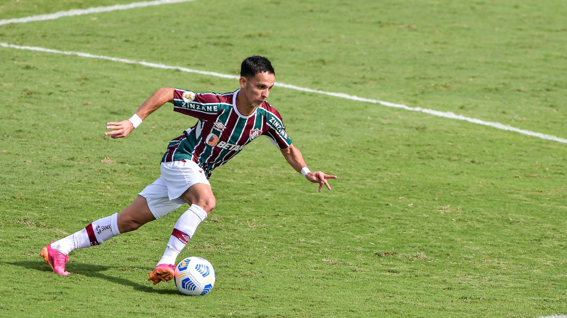 Gabriel Teixeira, jogador do Fluminense, durante a partida contra o Cuiabá