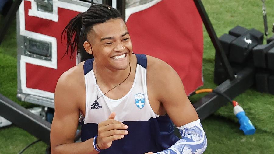 Emmanouil Karalis, atleta da Grécia que disputou o salto com vara nos Jogos Olímpicos de Tóquio - Valery Sharifulin\TASS via Getty Images
