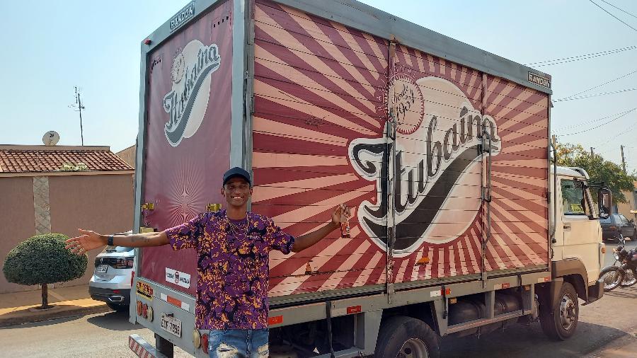 Alison Piu recebe caminhão da Itubaína - Reprodução