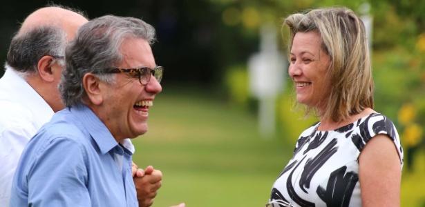 Aidar e Cinira Maturana no CT da Barra Funda; clube venceu ação contra advogado