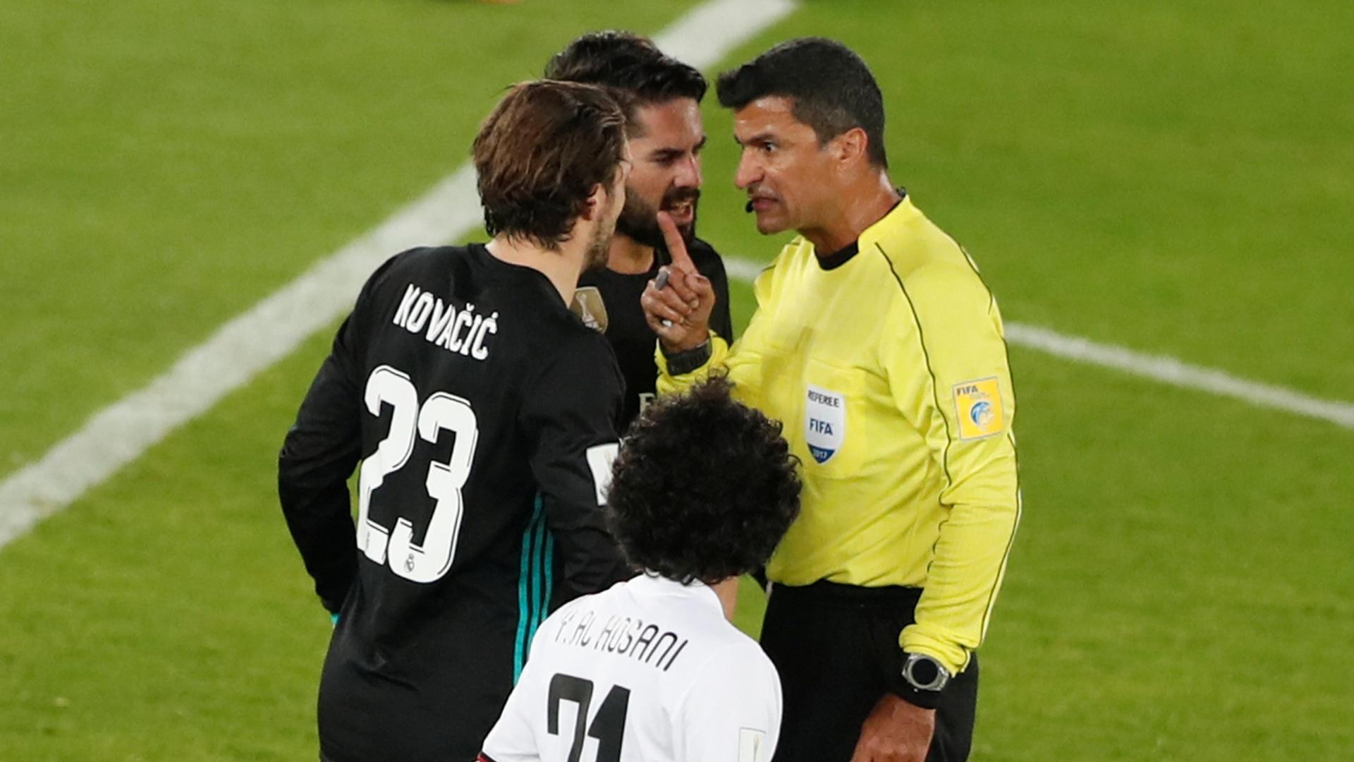Sandro Meira Ricci anula gol do Real Madrid após auxílio do árbitro de vídeo