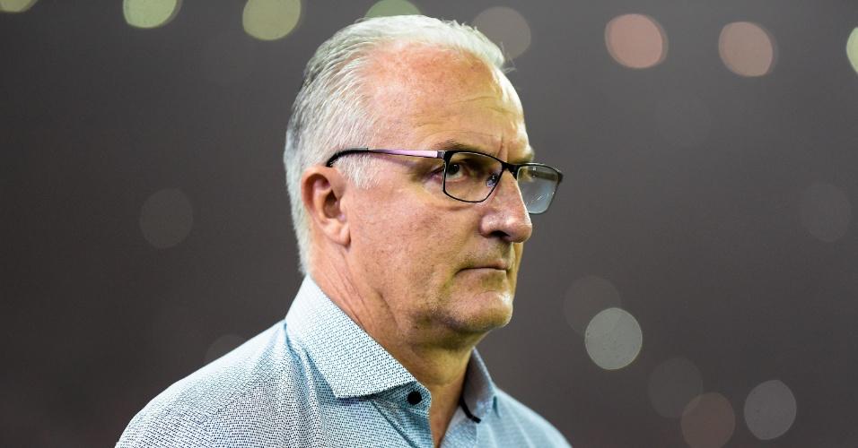 Dorival Junior, técnico do Flamengo, durante a partida contra o Palmeiras