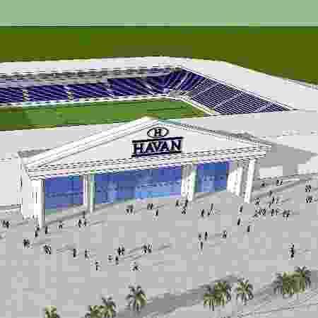Projeto da Arena Havan, que seria construída em Brusque - Divulgação
