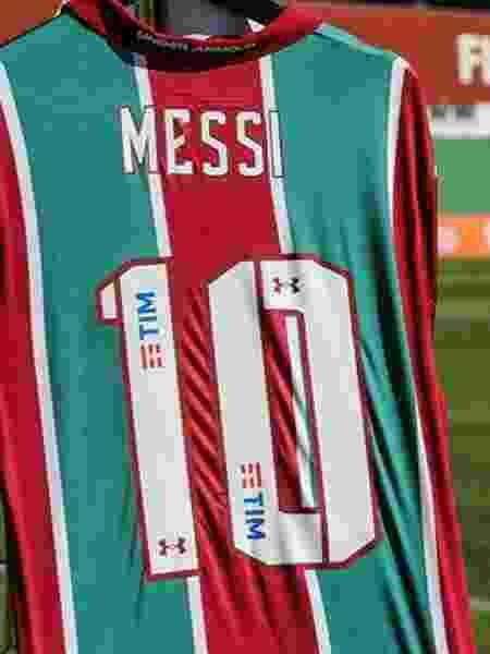 Camisa do Fluminense de Messi - @FluminenseFC/Twitter - @FluminenseFC/Twitter