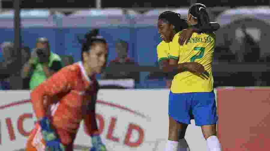 Brasil goleou Argentina por 5 a 0 na semifinal do Torneio Internacional - Marcello Zambrana/AGIF