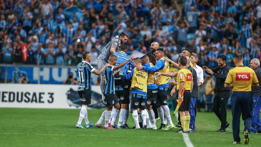 Segundo time do Brasileirão que mais fez gols, Grêmio lidera quando assunto é gols de fora da área - Lucas Uebel/Grêmio FBPA