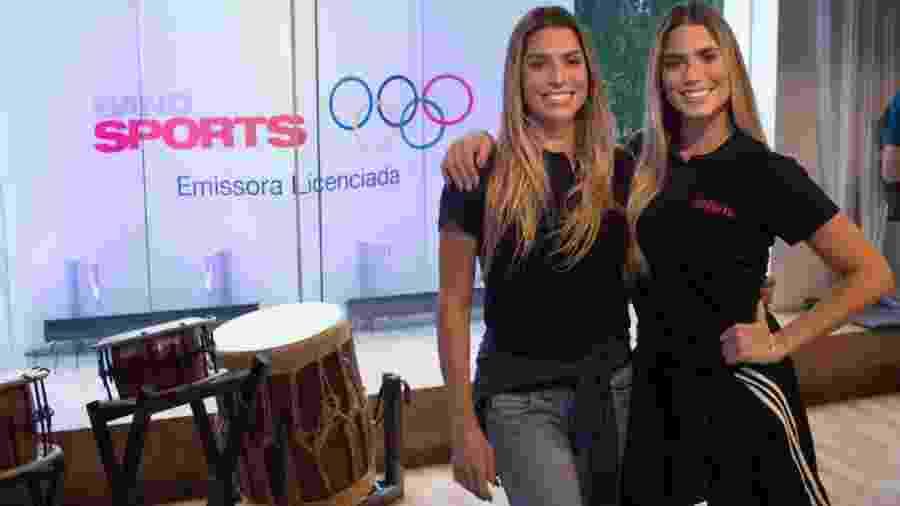 Bia e Branca Feres, as gêmeas do nado sincronizado, vão comentar a Olimpíada no BandSports - Carlos Reinis/BandSports