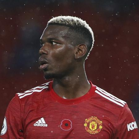 Paul Pogba durante partida do Manchester United - REUTERS/Phil Noble