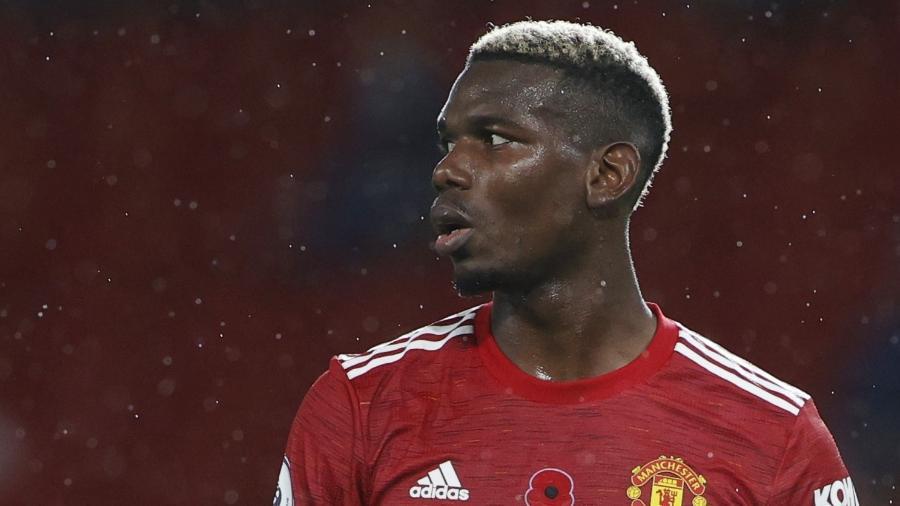 Paul Pogba, durante partida do Manchester United - REUTERS/Phil Noble