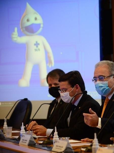 Anúncio da parceria entre COI e governo foi feito em coletiva de imprensa - Marcelo Casal Jr/Agência Brasil