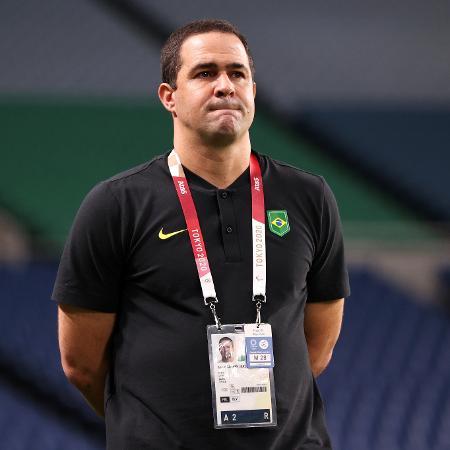André Jardine durante jogo da seleção brasileira contra o Egito pelos Jogos Olímpicos de Tóquio - Buda Mendes/Getty Images
